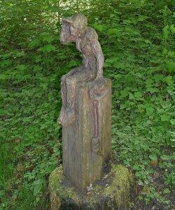 Ein Schlüsselerlebnis - die Skulpturen auf dem Wanderweg nach Bräunlingen.
